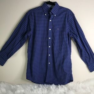 Tommy Hilfiger Blue & Black Check Sz 15 32-33